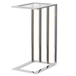 Steel and glass side table