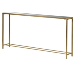 Gold mirrored console table