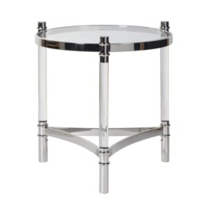Round perspex and glass table