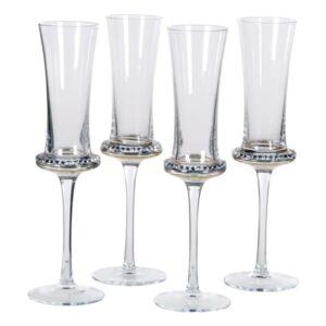 Diamanté shaped champagne flutes (set of 4)