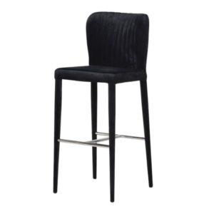 black velvet bar stool