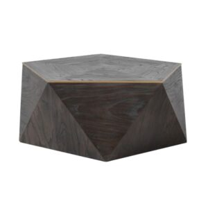 Hexagonal coffee table with gold trim