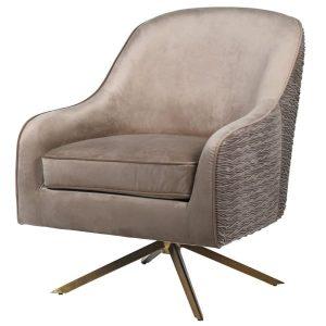 Gold swivel chair