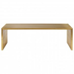 Gold square edge coffee table
