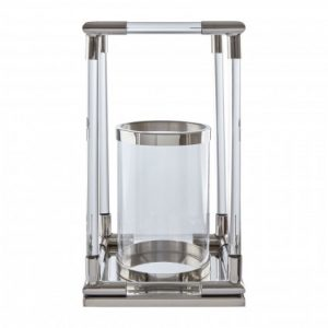 Silver and acrylic cage lantern