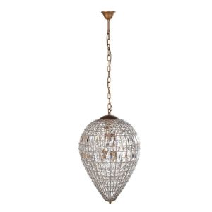 Dome beaded crystal chandelier
