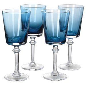 Blue gradient red wine glasses (set of 4)