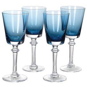 Blue gradient white wine glasses (set of 4)