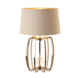 Nickel finish caged lamp (base only)