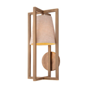 Brass detail wall light with shade