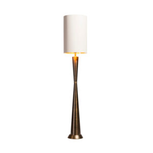 Dark antique brass table lamp with shade